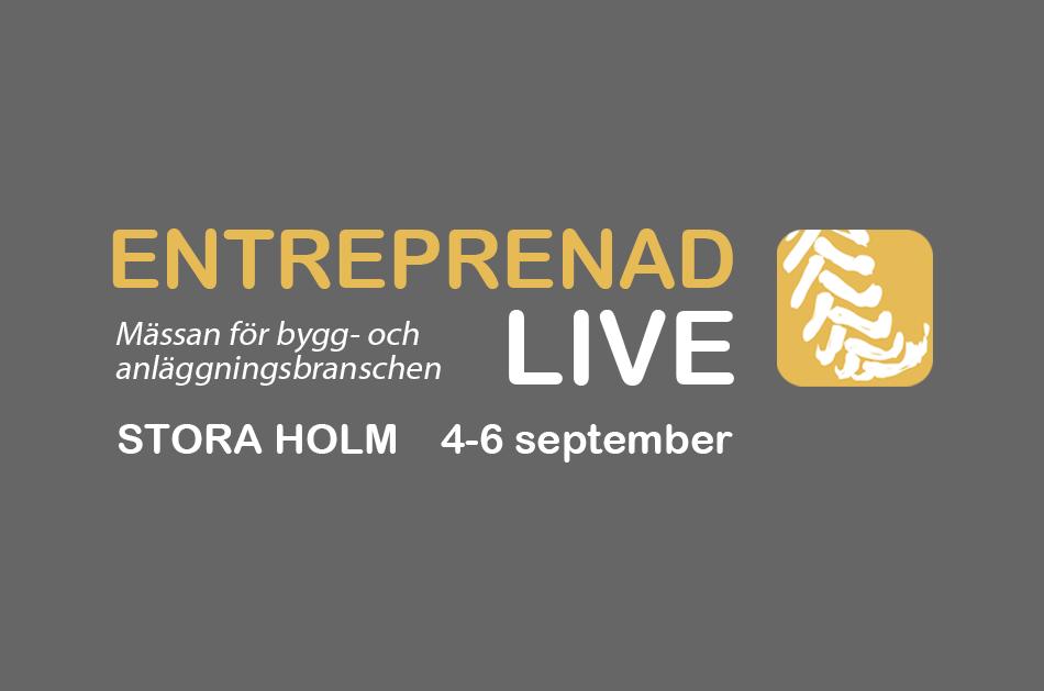 Schakt i Väst medverkar på Entreprenad Live, 4-6 september