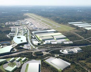 Markarbetet igång för nya Airport City i Landvetter