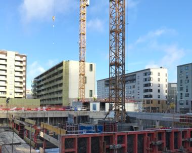 Byggandet av flerbostadshus mot rekordnivåer