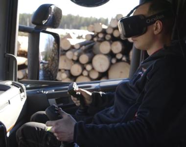 Första åkaren att lasta med VR-glasögon