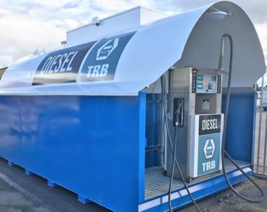 Helt ny tankstation på SIVs parkeringsplats