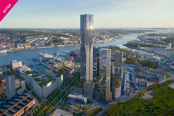 Göteborg före och efter byggtid