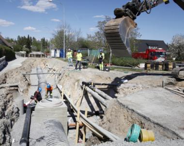 Anläggningsbyggandet tar över