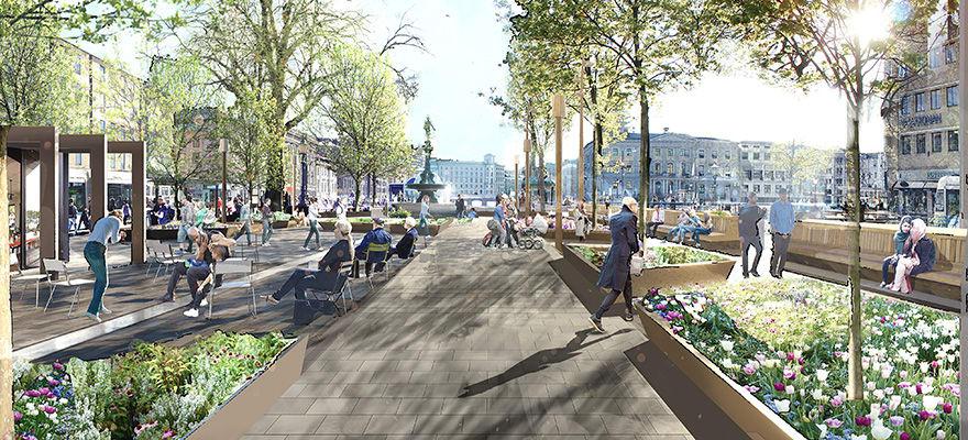 Så ska Brunnsparken i Göteborg förändras