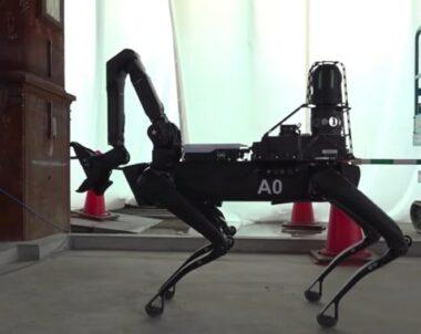 Robothund ska vakta bygget