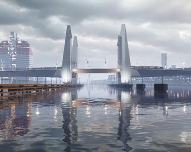 Precisionstransport tog lyftspann under Götaälvbron